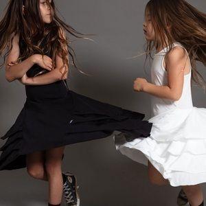 NWT NUNUNU Black fancy layered dress (12-14)